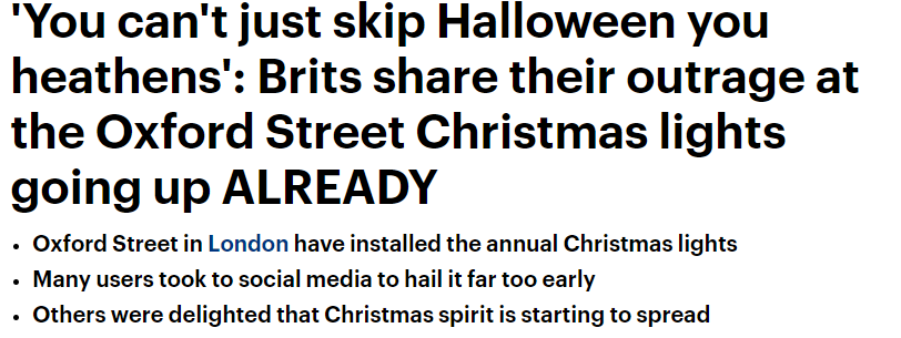 but how to go about finding if the christmas season truly is creeping into the earlier parts of the year a good starting point would be to identify - Reddit Christmas