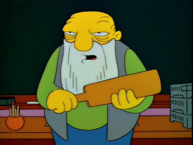 Oh you better believe that's a paddlin'